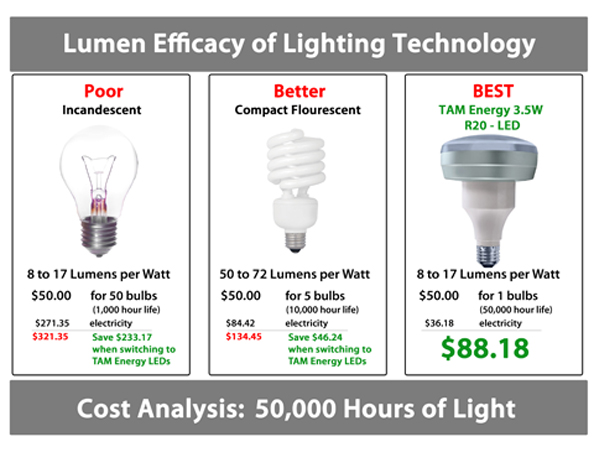 Led Light Bulb Lumens Per Watt